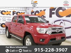 2012 *Toyota*  *Tacoma* *PreRunner*  57k miles Call for Price 57910 miles 915-228-3907 Transmission: Automatic  #Toyota #Tacoma #used #cars #FoxToyotaofElPaso #ElPaso #TX #tapcars