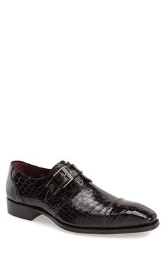 Free shipping and returns on Mezlan 'Berlin' Monk Strap Shoe (Men) at Nordstrom.com. Both refined and exotic, genuine alligator leather adds eye-catching style to a Spanish-made monk-strap shoe crafted in a sharp silhouette with a classic cap toe.