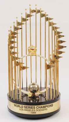 Los Angeles Dodgers  World Series Championship Trophy 1988