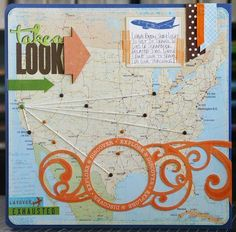 Scrapbooking Ideas and techniques - ideas for travel journal, art journal and scrapbook pages