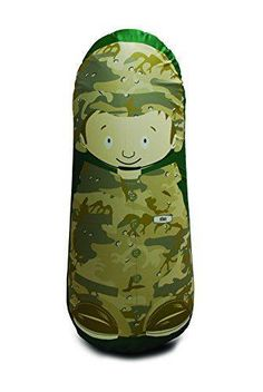 Give your little one something to bop and bat around with the Eco-Bonk Soldier Ethan Bop Bag. This safe and soft toy features the tall ultimate playmate Soldier Ethan in all of his nationally heroic glory. Sports Toys, Kids Sports, Best Punching Bag, Kids Bags, Lunch Box, Bento Box