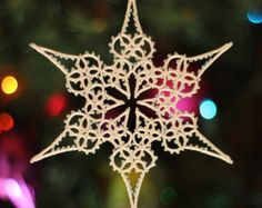Snowflake Pattern Collection PDF lace tatted by TattingPoints