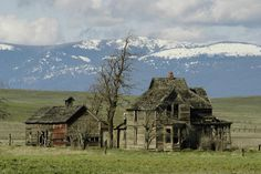 Homestead with an amazing backdrop of the Cascade Mountains