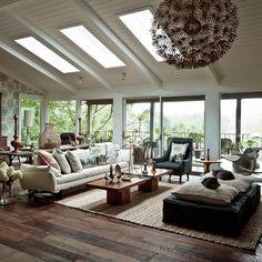 Amy Butler / Living Etc {eclectic scandinavian vintage bohemian rustic mid century modern living room}