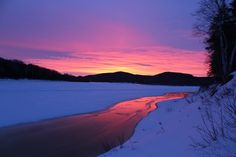 Sunrise on the St John River at Tylor Kellys Camps Hunting Outfitters, Northern Maine, Moose Hunting, The St, Camps, Lodges, Wilderness, Sunrise, River