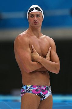 A flower speedo has never looked so good Ahahahaha! You're welcome ladies.