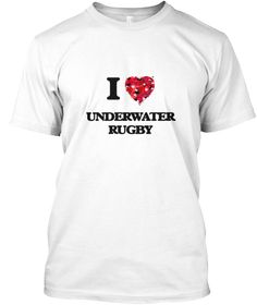 I Love Underwater Rugby White T-Shirt Front - This is the perfect gift for someone who loves Underwater Rugby. Thank you for visiting my page (Related terms: I Love,Love Underwater Rugby,I Love Underwater Rugby ,Underwater Rugby ,Underwater rugby ,Underwater ...)