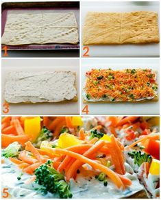 This Simple Crescent Roll Pizza Appetizer recipe is easy to make and always a hit at parties! You can even serve this veggie pizza recipe for dinner! Crescent Roll Veggie Pizza, Crescent Roll Recipes, Crescent Rolls, Pizza Appetizers, Appetizers For Party, Appetizer Recipes, Appetizer Ideas, Candida Recipes, Veggie Soup