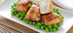 Pedacinhos de frango com bacon.