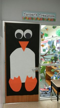 Penguin door decor for my classroom. (Trying to stay with my bird theme with a winter flare.) :)