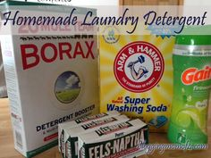 Homemade Laundry Detergent DIY