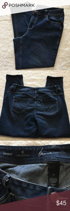 ➕ Lane Bryant skinny jeans Genius Fit skinny jeans by Lane Bryant. EUC! Lane Bryant Jeans Skinny