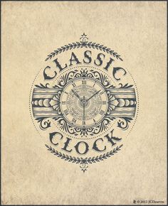 Classic Clock by JCDesevre #typography #vintage #clock