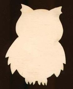 12 inch tall Owl Shape Plaque Sign Natural Craft Wood Cutout 1216-12. $6.99, via Etsy.