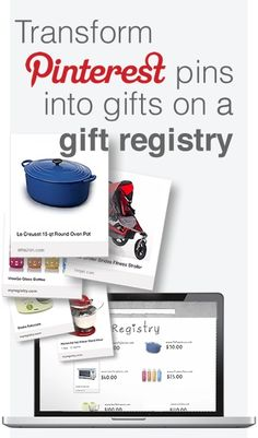 Make your pins come to life... Universal gift registry service, MyRegistry. com launched a new feature for Pinterest fans where members can add pins as gifts onto their registries. http://myregistry.com/pinterestaddon