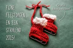 Free crochet pattern for ice skates Crochet Snowflake Pattern, Christmas Crochet Patterns, Holiday Crochet, Crochet Christmas Decorations, Christmas Crafts, Crochet Toys, Free Crochet, Crochet Patterns For Beginners, Yarn Crafts