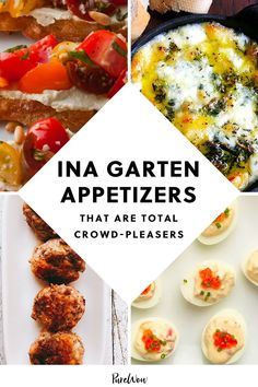 Before you start mapping out holiday menus, take a beat...our hero Ina Garten has a plethora of crowd-pleasing finger foods to choose from. #Ina #Garten #appetizers