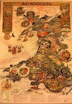 The Mabinogion is a cycle of Welsh legends collected in the Red Book of Hergest (c. 1382), a manuscript which is in the library of Oxford University. The Mabinogion stories are based on historical characters and incidents from the dark ages in Wales and environs, embellished with supernatural and folklore elements. Throughout there are echoes of primordial Celtic mythology and folklore, including the ancient gods and goddesses. Read the text: http://www.sacred-texts.com/neu/celt/mab/