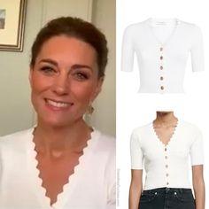 Kate Middleton Style, Sandro, Duchess Of Cambridge, Royals, Cool Style, Ruffle Blouse, Shopping, Tops, Women