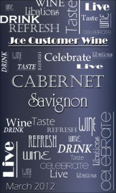 A text jumble customizable wine label