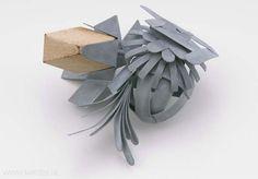 Lucy Sarneel - Bundle II, brooch, 2010, zinc, wood - 150 x 125 x 58 mm