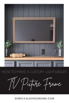 Picture Frame Tv, Decor Around Tv, Framed Tv, Cozy Place, Diy Frame, Tvs, Midcentury Modern, Custom Framing, Homestead