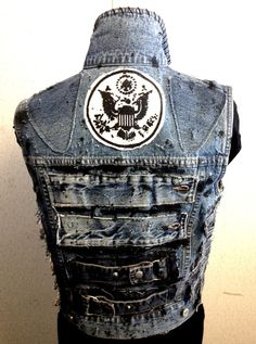 upcycled punked the fuck out vest