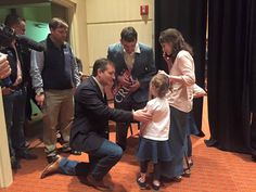 """Long after most of the crowd had left, and Cruz was LONG gone (or so I thought), one of the campaign managers found this little girl crying because Senator Cruz was gone and she had something in her hand to give him.  ...the campaign manager had pity on this little girl and went to fetch Cruz, who came back to speak to both girls, and knelt down and talked to them about his own two little girls. He asked the little (youngest) girl what she had for him."