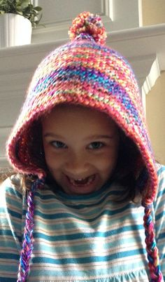 Free Knitting Pattern for Hood Hat - Courtney Spainhower's hood couldn't be easier. Just knit a rectangle in garter stitch and seam according to her instructions. Pictured project by fluffymoonhair
