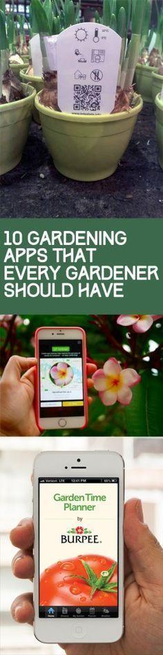 Gardening, gardening hacks, popular pin, outdoor living, phone apps, gardening hacks, gardening tips and tricks.