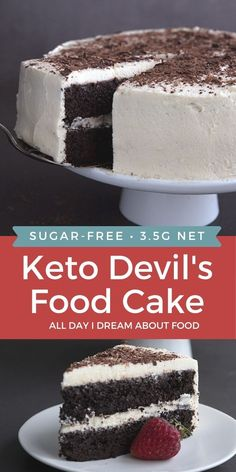 You can't go wrong with a classic like Devil's Food Cake, especially when it's low carb. Tender, rich keto chocolate cake with a fluffy sugar free vanilla frosting.