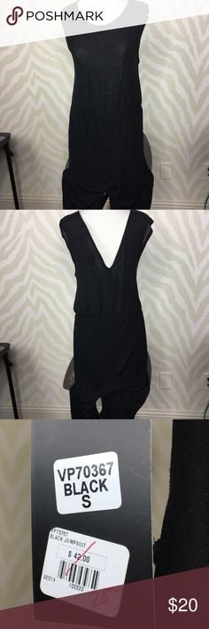 NWT Very J Black Jumpsuit Very J S Black Jumpsuit with V back opening Very J Other