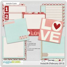 Quality DigiScrap Freebies: InstaLife {February 2013} journal cards freebie from Ziggle Designs