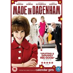 MADE IN DAGENHAM: From the makers of Calendar Girls, comes Made in Dagenham, a story of a group of female factory workers, featuring a stellar British cast including Sally Hawkins, Bob Hoskins, Miranda Richardson, Geraldine James, Rosamund Pike, Andrea Riseborough, Jaime Winstone and Daniel Mays.