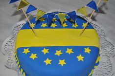 Torta Boca juniors Cupcake Cookies, Cupcakes, Happy Birthday, Birthday Cake, I Party, Party Ideas, Baby Shower, Baking, Desserts