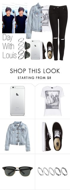"""""""Day With Louis"""" by the4dipshits ❤ liked on Polyvore featuring Topshop, H&M, Vans, Ray-Ban and ASOS"""