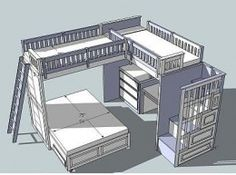 Loft Bed Plans - Great Detail