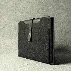 Leather & Wool Felt 13' Retina MacBook Pro Sleeve from Charbonize