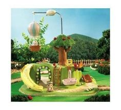 whimsical outdoor playhouse | Calico Critters Baby Play Park: A Whimsical Park For Calico Critters ...