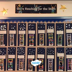 Amazing Reach for the stars classroom display! What a great display to create with your students! Download Reach for the Stars Banner here!