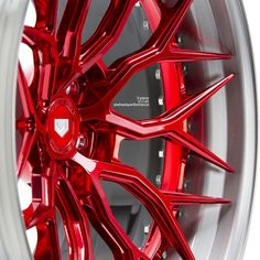 wheels finished in Polished Vossen Red centers and Brushed Light Smoke outers by available Corolla 1995, Honda Accord Custom, Golf Mk3, Custom Chevy Trucks, Vw T5, Alloy Wheel, Jdm, Corvette, Custom Cars