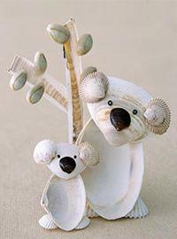 Animales hechos con conchas :)