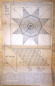 Vintage 30s Kansas City Star quilt pattern
