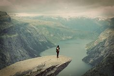Trolltunga, Norway  It is 1100 meters above sea level, hovering 700 metres above Lake Ringedalsvatnet. The view is breathtaking. The hike goes through high mountains, and takes 8-10 hours in total , and the ascent is about 900 meters.