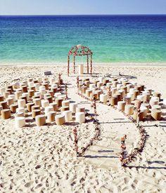 Love this whimsical beach aisle!