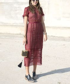 Street Style Stars Are Loving Oxford Shoes! Here's How to Wear Them in Unexpected Ways - Style with a Dressy Dress - from InStyle.com