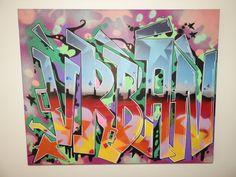 "Handpainted ""OldSchool"" style deep edged canvas avaliable from  www.urbanized.co.uk . #urban #urbanart #graffiti #graffitiart #streetart #furniture #interiordesign #bespoke #uk #bristol #abstract #abstractart #contemporary  #handmade #handpainted #wood #interiordesign #urbanfurniture #urbanfurniture  #solidwood #OldSchool #urbanized #mirror #modern #modernfurniture #interior #canvas #urbanized"