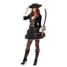 Disfraces de pirata de calidad para mujer, disfraz de pirata de lujo para mujer, disfraces de pirata exclusivos para mujer