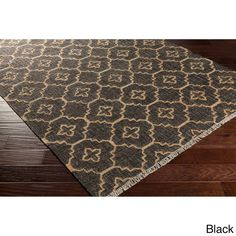 Bring luxury to your home with this contemporary area rug. Hand-Woven with…