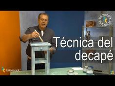 Pintar con chalk paint 2 - Efecto decapé (Bricocrack) - YouTube